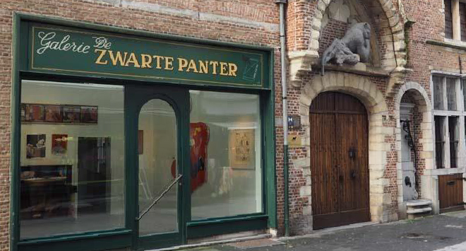 magasin d'art à anvers zwarte panter