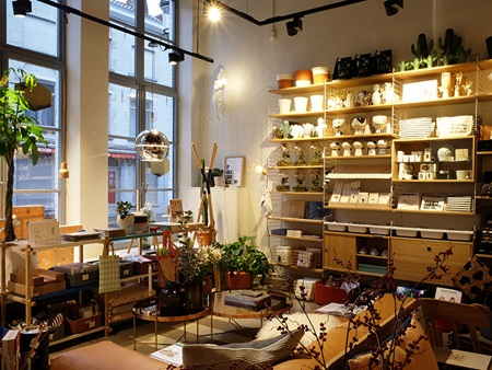 The nice atmosphere of a decoration shop