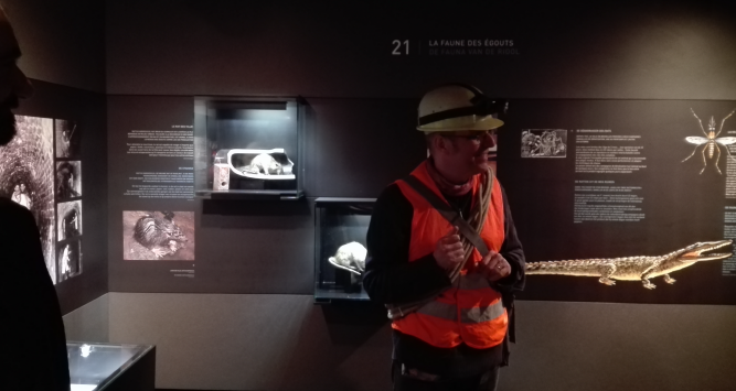 A guided tour of the Sewer Museum in Brussels.