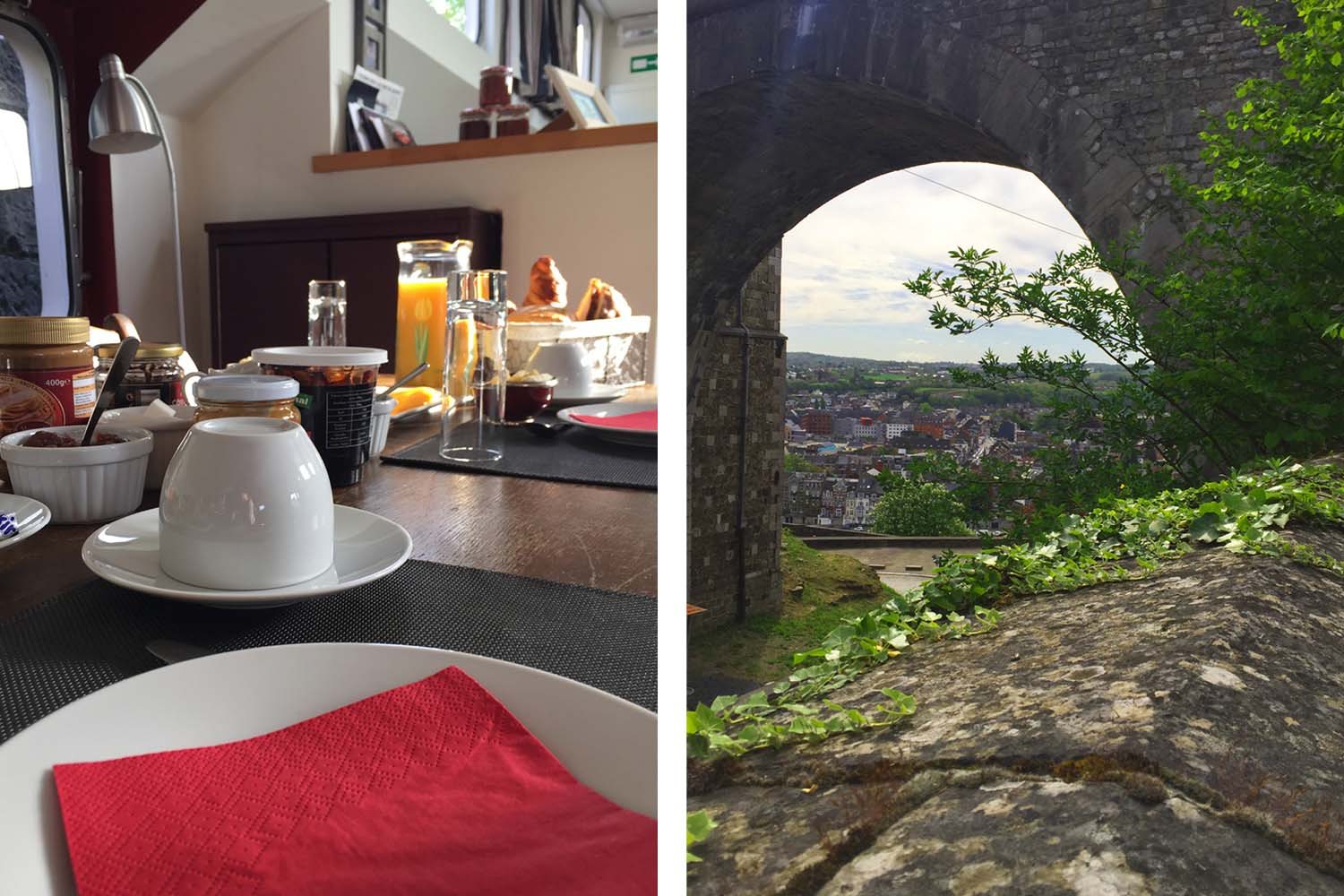 A delicious breakfast followed by a walk to the Citadel of Namur