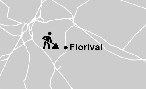Carte: travaux à Florival